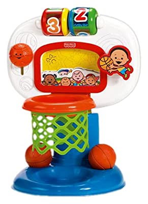 Fisher-Price Brilliant Basics Dunk `n Cheer Basketball